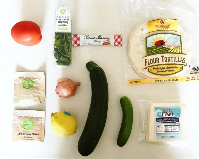HelloFresh Mediterranean Cheese Tacos